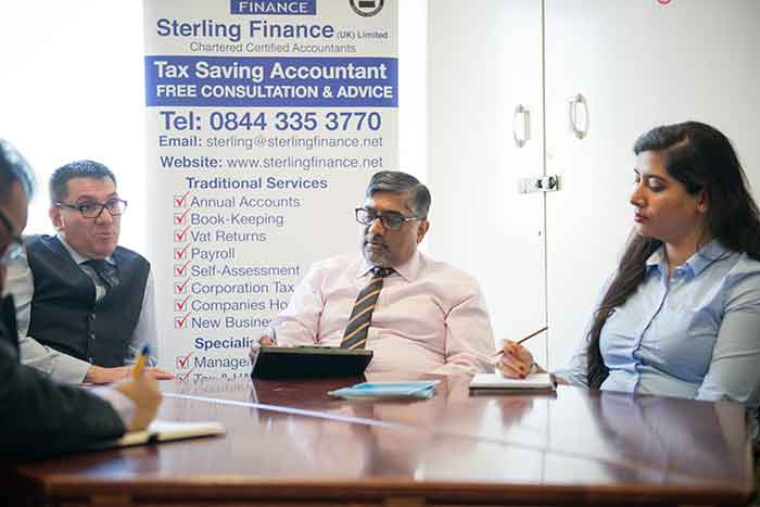 sterling finance meeting with the client